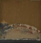 004-035 Post_2011-Ochre With Crimson, white and grey, 25cmx25cm, oil, sand on canvas