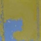 002-027 post2011-yellow_and_pale_blue-25cmx25cm-oil_sand_on_canvas